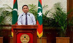 Maldives president, Abdulla Yameen
