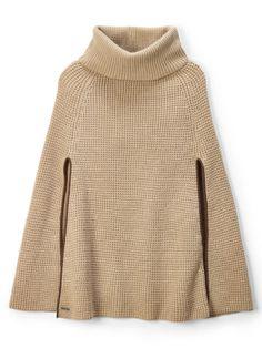 Lauren Waffle-Knit Cape - Lauren Scarves and Ties - Ralph Lauren UK