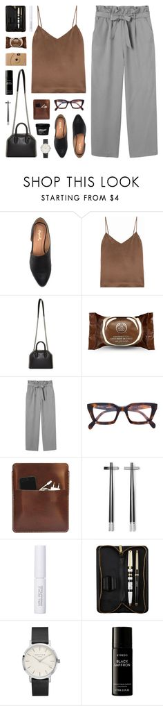 """""""heavy conversations"""" by martosaur ❤ liked on Polyvore featuring L'Agence, STELLA McCARTNEY, The Body Shop, Monki, CÉLINE, Palila, Georg Jensen, W3LL People, Poketo and Topshop"""