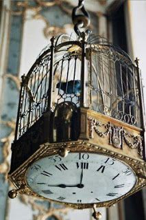 Birdcage Deco Idea Bird Cage Steampunk Sepia Watch Shabby Collar – Clock World