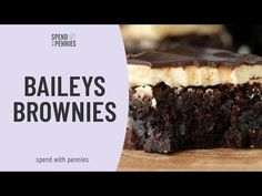 Baileys Brownies have a fluffy buttery Baileys Irish Cream frosting and are topped with a rich boozy Baileys chocolate ganache.