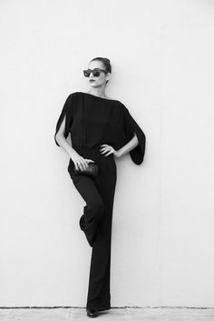 Diane Von Furstenburg Black Jumpsuit, add a belt and it's a go!!