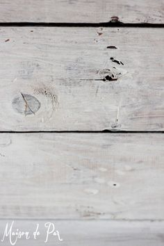 whitewashed plank wall | Maison de Pax on Remodelaholic.com