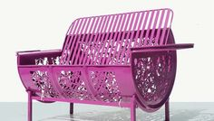 Metal Barrels upcycled into lace furniture by Dentelles & Bidons