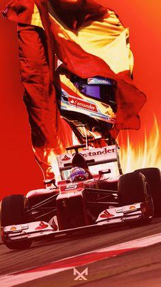 Ferrari Scuderia, Ferrari F1, Fernando Alonso Ferrari, Formula 1 Car, Michael Schumacher, F1 Drivers, Sports Art, Race Cars, Super Cars