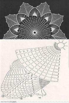 "Photo from album ""Дуплет on - Her Crochet Col Crochet, Crochet Home, Thread Crochet, Crochet Motif, Crochet Doilies, Hand Crochet, Crochet Stitches, Free Crochet Doily Patterns, Crochet Doily Diagram"