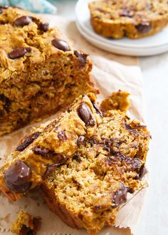 Healthy and hearty Pumpkin Banana Chocolate Chip Bread is a great way to ease into fall baking.