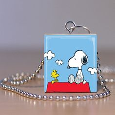 Scrabble Jewelry  Peanuts Snoopy Pendant by MaDGreenCreations, $7.49