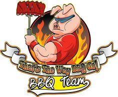 Bbq Team Logo by Tayler Walter Go Logo, Team Logo, Bar B Que Pits, Barbecue, Bbq Grill, Grill Logo, Bbq Signs, Pig Crafts, Pig Art