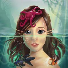Aqua- Técnica digital - Marcela Moreno M