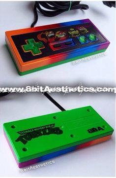 TMNT Teenage Mutant Ninja Turtle NES controller! By 8bitAesthetics! Message us at www.8bitaesthetics.com to place your custom order!