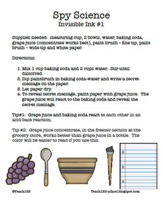 Kids will love this great experiment! It would be great to use with a mystery genre study!