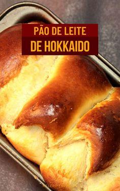 Pão de leite japonês de Hokkaido - Fofinho e delicioso   Mel e Pimenta Cooking Classes, Hot Dog Buns, Pizza, Bread, Health, Recipes, Milk Bread Recipe, Cassava Cake, Vegetarian Recipes