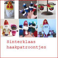 Haakpatronen voor Sinterklaas en zwarte Piet.  www.allesoverhaken.nl
