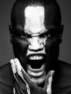 Intense black and white portrait of man. Strong face and fierce eyes., on KAVYAR Paint Photography, Self Portrait Photography, Face Photography, Creative Photography, Inspiring Photography, Photography Tutorials, Digital Photography, Black And White Portraits, Black And White Photography