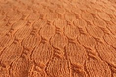 Orange Cashmere Hand Knit Baby Blanket