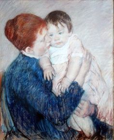 Agatha And Her Child by Mary Cassatt