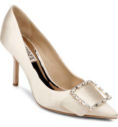 Badgley Mischka Devi Pointed Toe Pump Pointed Toe Pumps, Peep Toe, Designer Wedding Shoes, Bridal Heels, Badgley Mischka, Women's Pumps, Nordstrom, Dream Wedding, Style
