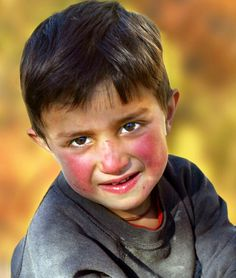 Look at these rosy cheeks! ☺️ (Boy from northern Pakistan)