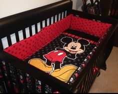 Mickey or Minnie Mouse Bedding Set by LannersQuilts on Etsy