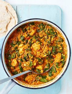 This is our healthy version of chicken dhansak. Easy to make, ready in under an hour, high in protein and under 500 calories. No need for takeaway curry