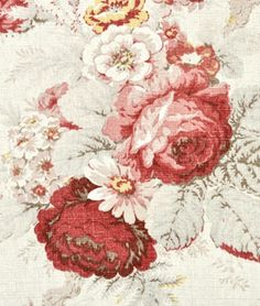 Waverly Norfolk Rose Fabric.  Good option for family room curtains.