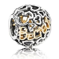Disney Mickey Mouse ''Believe'' Charm by PANDORA | Disney StoreMickey Mouse ''Believe'' Charm by PANDORA - Decorated with delicate filigree silver hearts, Mickey icons and the word ''believe'' scripted in 14k gold, this stylish charm is a reminder to always keep believing. To stay true to yourself.