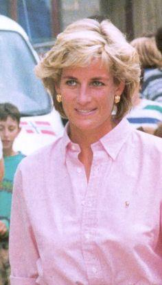 August 10, 1997: Diana, Princess Of Wales visiting Sarajevo, Bosnia.