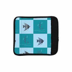 "Afe Images ""Angelfish Pattern"" Blue Teal Digital Luggage Handle Wrap from KESS InHouse"