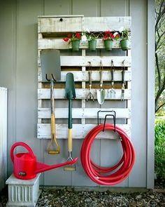 jardim suspenso de paletes/organizador de utensílios de jardinagem