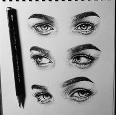 Likes, 18 Comments - 💟 Daily Art Features Easy Pencil Drawings, Pencil Drawing Images, Cool Art Drawings, Art Drawings Sketches, Eye Drawing Tutorials, Art Tutorials, Drawing Techniques, Illusion Kunst, Realistic Eye Drawing