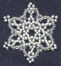 Sandra D Halpenny - Free Bead Patterns and Ideas : Snowflake Ornament - Free Pattern