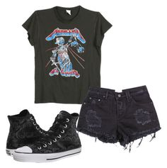 """""""Untitled #471"""" by peterpan-lover-jdb on Polyvore featuring MadeWorn, Converse, women's clothing, women's fashion, women, female, woman, misses and juniors"""