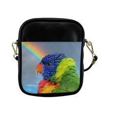 Rainbow Lorikeet Sling Bag (Model 1627)