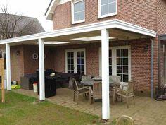 Plat dak met EPDM en lichtkoepels