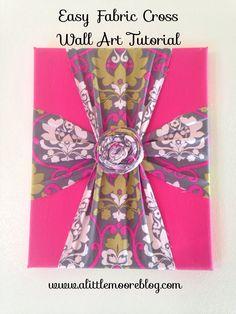 Easy Fabric Cross Wall Art Tutorial