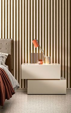 PIANCA Minimal Bedroom, Clean Design, Night Table, Minimalism, Colours, Cabinet, Right To Choose, Night Stand, People
