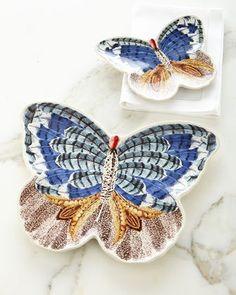 -6VJW Juliska  Forest Walk Butterfly Plate Forest Walk Butterfly Platter