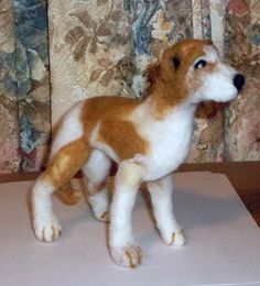 One Of A Kind Handcrafted Needle Felted Whippet