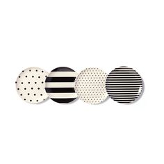 Buy kate spade new york Black and White Coasters - Set of 4 | Amara