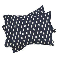 DENY Designs Allyson Johnson Navy Strokes Pillow Sham - 62155-PILQKT