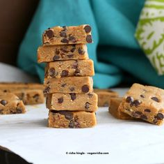 No bake Vegan Chocolate Chip Cookie Dough Bars - what else can you worry about?