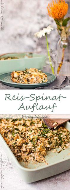 Perfekt für die kältere Jahreszeit: Reis-Spinat-Auflauf. Wärmt von innen und schmeckt ganz wunderbar. Und einfach zu machen ist er auch noch dazu. ;)