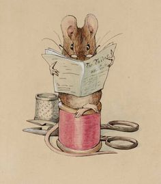 Helen Beatrix Potter 'Frontispiece: The Tailor Mouse', c.1902