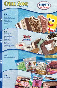 Hershey's Ice Cream Price Card