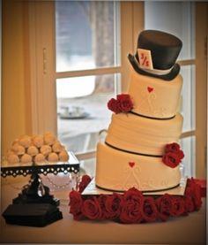 Indulge Sweet Shoppe  Clanton, Al  Alice in Wonderland wedding cake