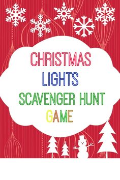 Christmas Lights Scavenger Hunt Game with Free Printable. www.intelligentdomestications.com #TriplePFeature