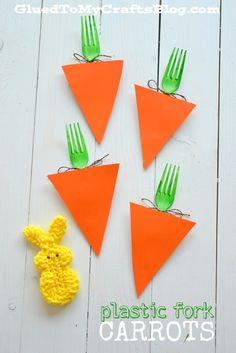 Plastic Fork Carrots - Kid Craft