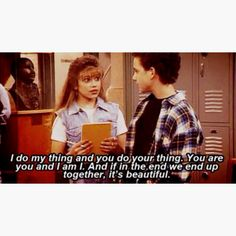 I do my thing and you do your thing. You are you and I am I. And if in the end we end up together, its beautiful.. #Topanga