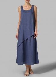 Linen Layered Long Dress